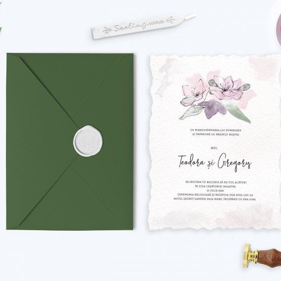 Invitatie de nunta Watercolor Pastel