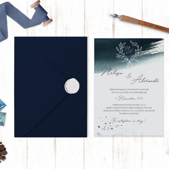 Invitatie de nunta Navy