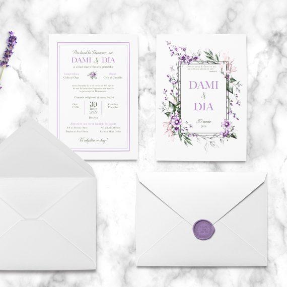Invitatie de nunta Purple Wax