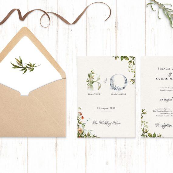 Invitatie de nunta Green Wood