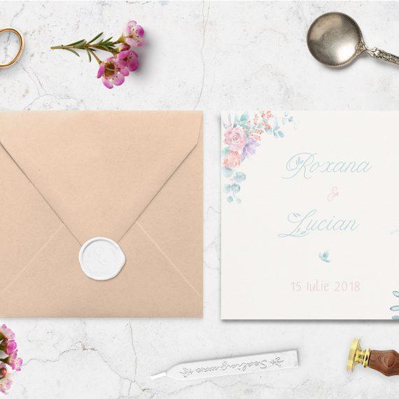 Invitatie de nunta Romantic Colours