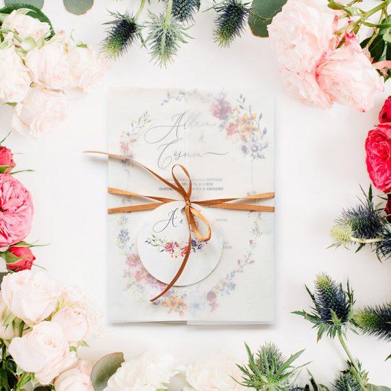 Invitatie de nunta Flowers Garden