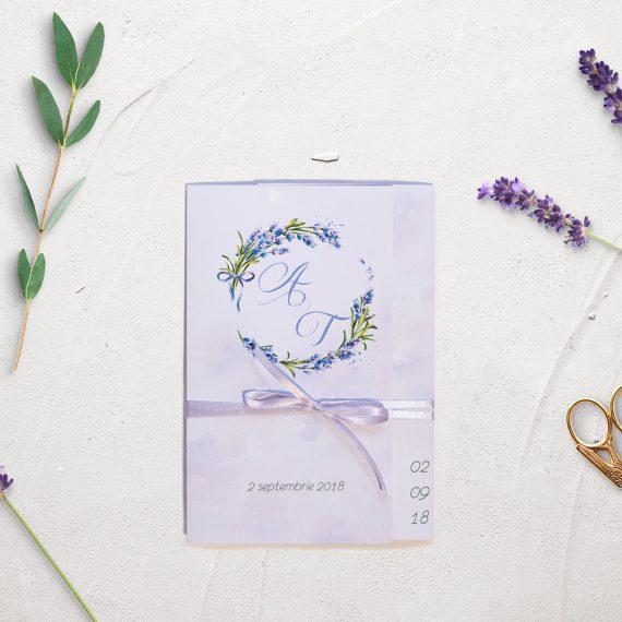 Invitatii de nunta Lavender Field
