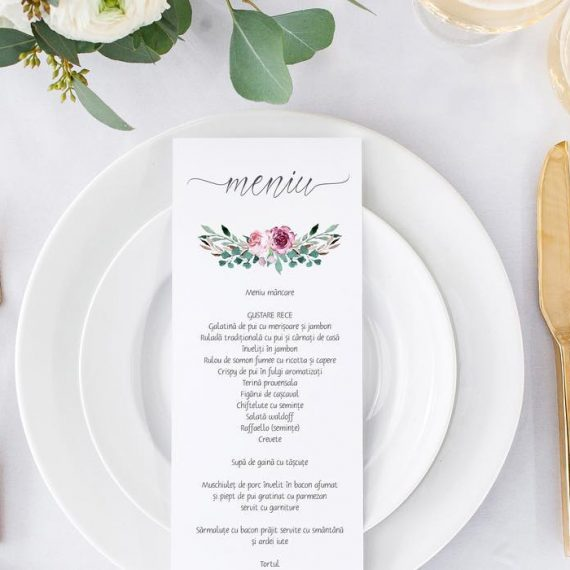 Meniu de nunta Fancy Flowers