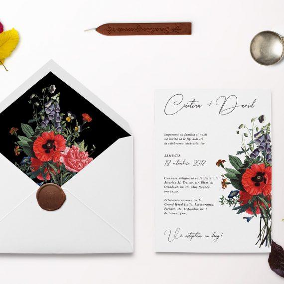 Invitatii de nunta Vinage Flowers