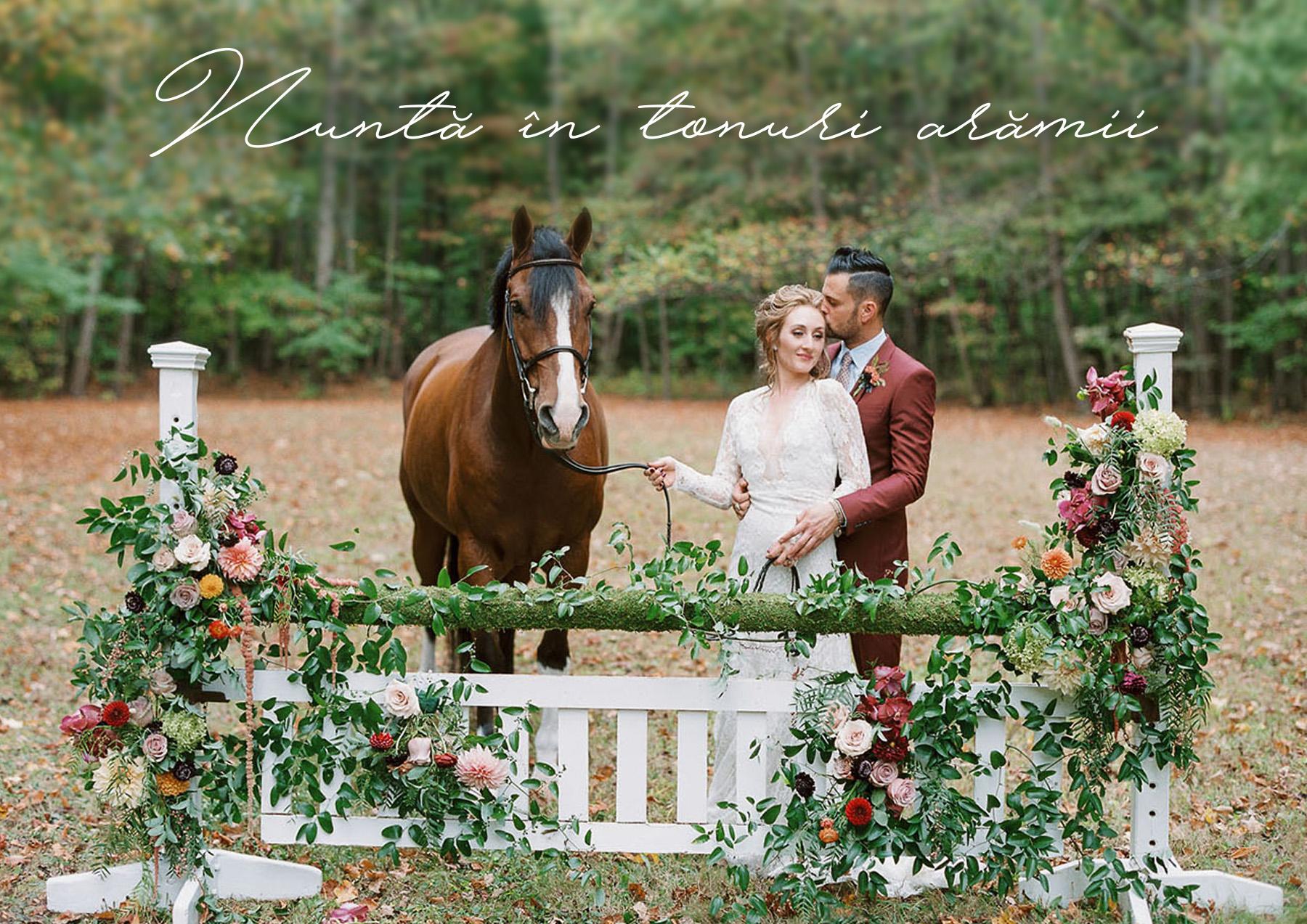 Nunta in tonuri aramii. Idei de invitatii de nunta de toamna!